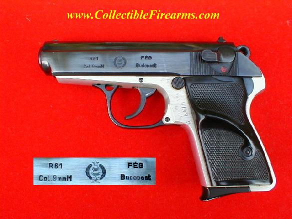 Hungarian FEG R61 semi-auto pistol in 9 mm Makarov caliber
