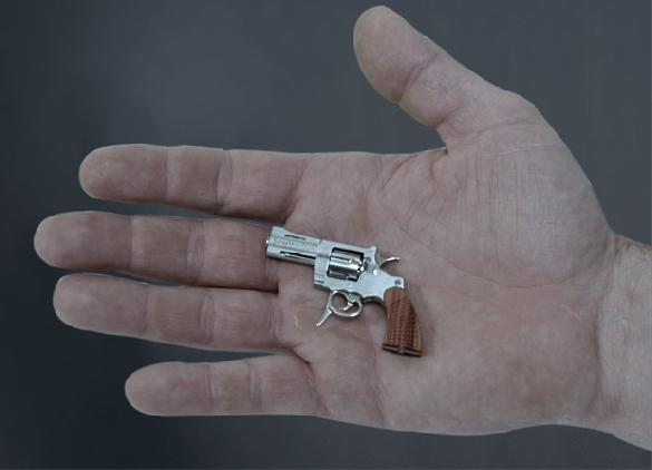 SwissMiniGun: the smallest revolver and ammunition in the world.