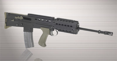 SA-80 with RIS tactical handguard