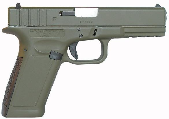 Glock with alloy frame