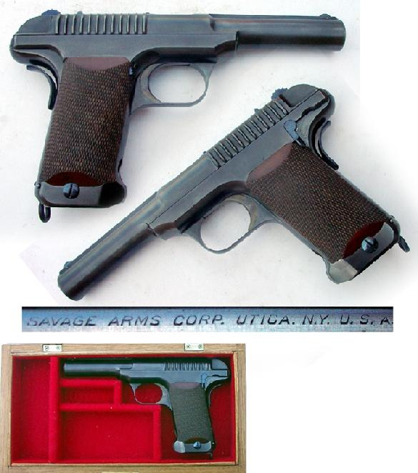 Savage Model 1907 .45 acp U.S. military test pistol