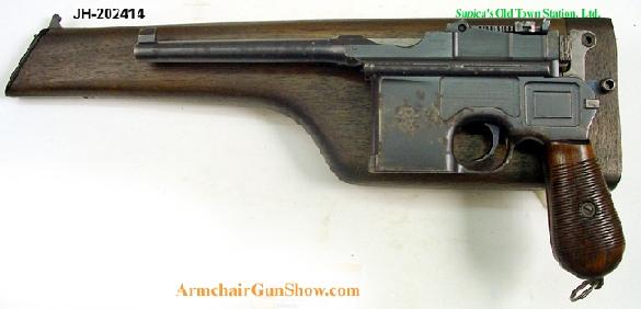 Mauser - Prewar commercial Model 1896 - Broomhandle, with repro holster / stock.