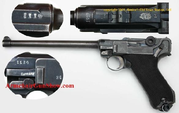 Luger - 1920 Commercial Artillery Model - DWM 1917 chamber date